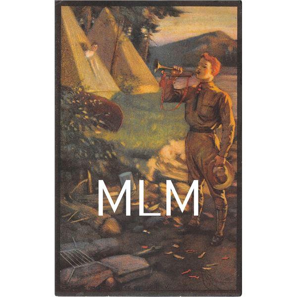 Set of 1-12 Boy Scout Activities Postcards