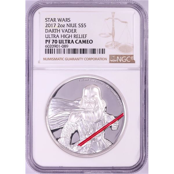 2017 Proof Niue $5 Darth Vader 2oz Silver Coin NGC PF70 Ultra Cameo