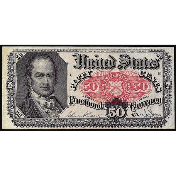 1875 Fifth Issue Fifty Cents Fractional Currency Note