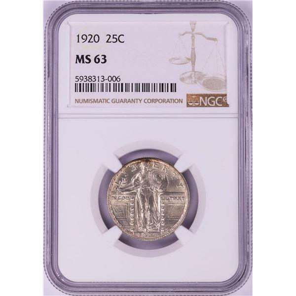 1920 Standing Liberty Quarter Coin NGC MS63