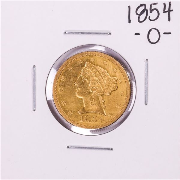 1854-O $5 Liberty Head Half Eagle Gold Coin