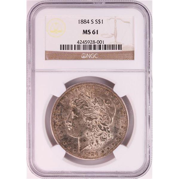 1884-S $1 Morgan Silver Dollar Coin NGC MS61