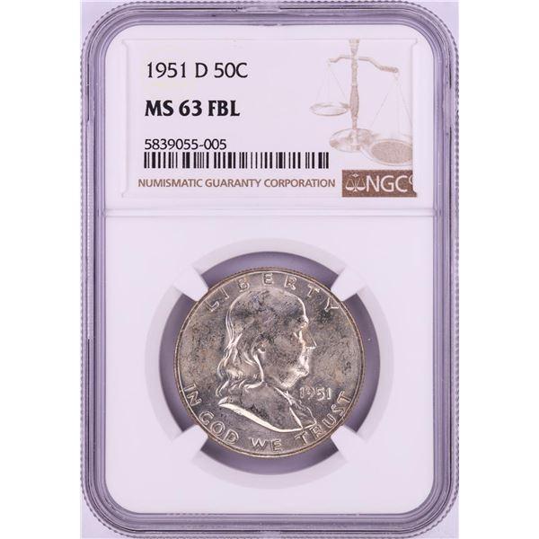 1951-D Franklin Half Dollar Coin NGC MS63FBL