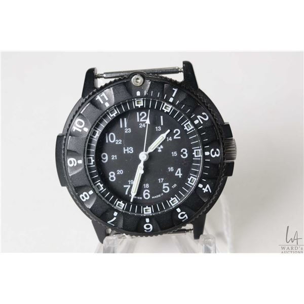 Marathon Military diver's watch marked Navigator's Analog, serial no. 0035952, needs battery and wat