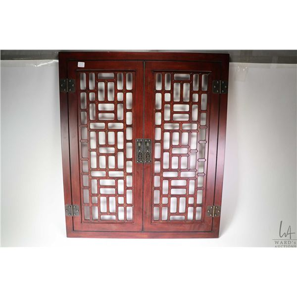"""Tibetan window with cast hinges and latches, 26"""" X 30"""". Not Available For Shipping. Local Pickup Onl"""