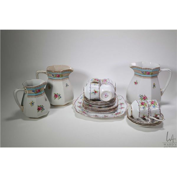 Selection of Royal Albert Petitpoint china including cake plate, six teacups and seven saucers and t