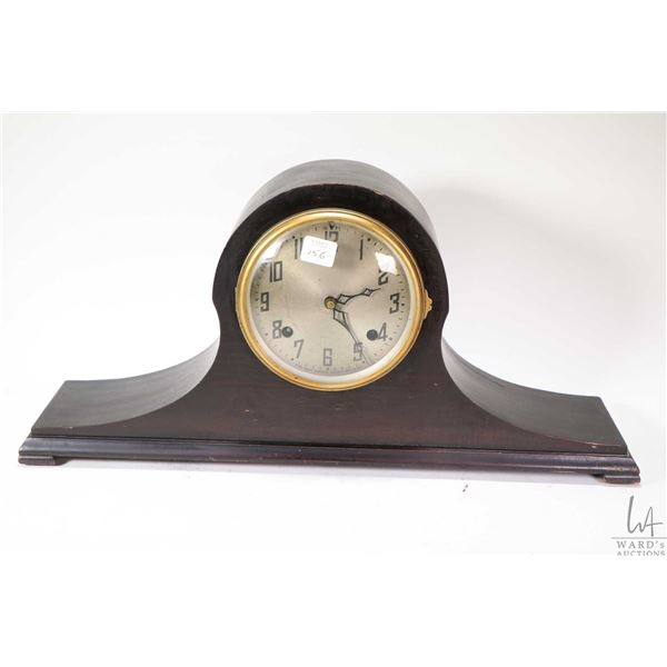 New Haven Clock Company chiming top hat mantle clock, working at time of cataloguing