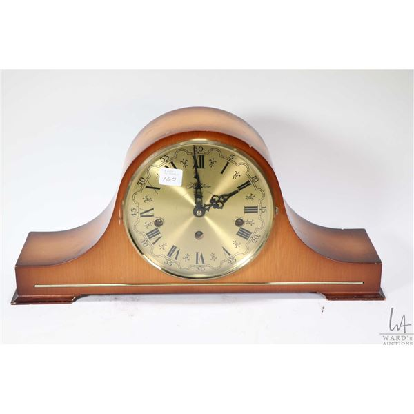 Traditions German made top hat chiming mantle clock, working at time of cataloguing