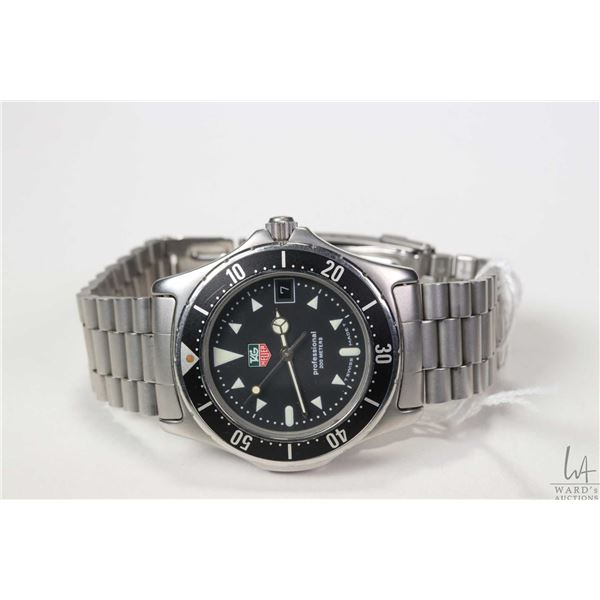 Tag Heuer Professional 200 meter Diver's watch model no. 973.006F, serial no. E67124,  working at ti