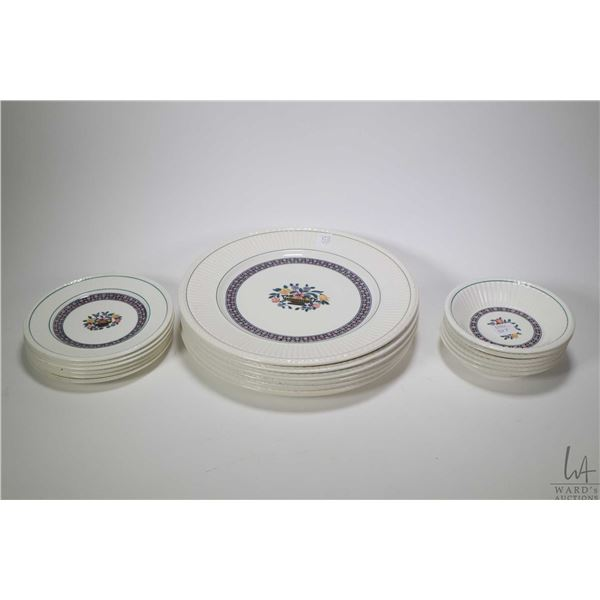 """Selection of Wedgwood """"Trentham"""" dinner ware including six each of  dinner plates, side plate, fruit"""