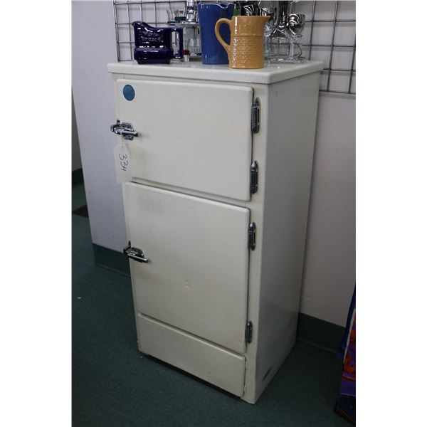Antique two door ice box made by Ace