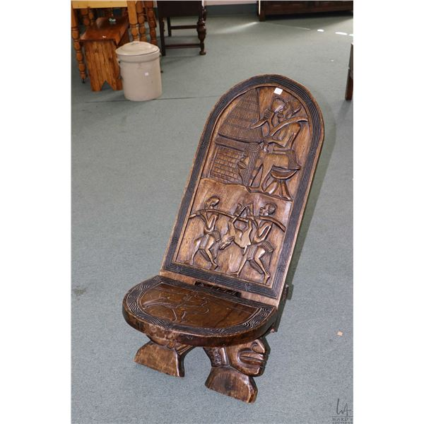 Hand carved African birthing chair, purportedly bought in the 50's-60's