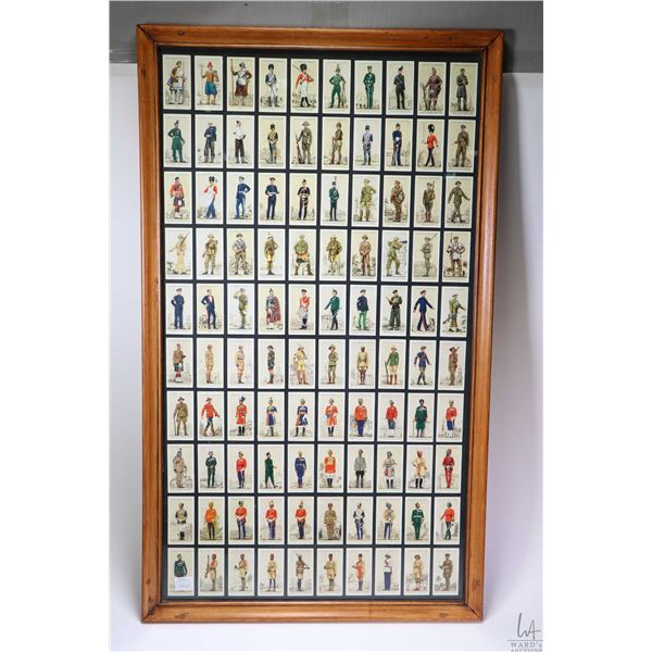 """Framed Players Cigarette card collection including 100 framed individual cards from the """" Military U"""