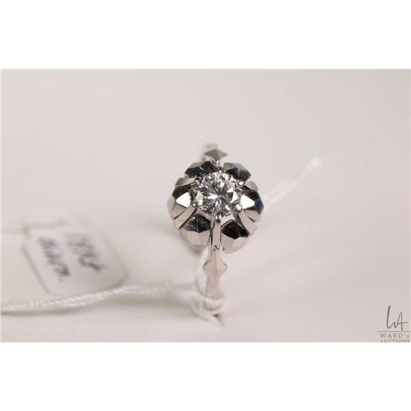 Ladies 18kt white gold and diamond, set with .40ct brilliant round white diamond. Retail replacement