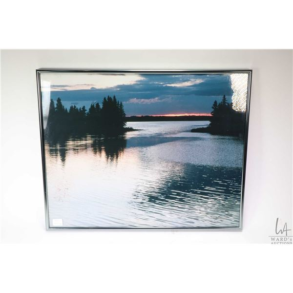 Three framed wilderness coloured photographs including two signed and dated by photographer Ben Gun