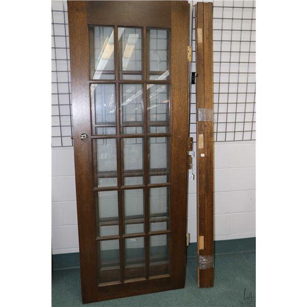 Set of double twelve panel interior doors and a single 12 panel door plus some door framing