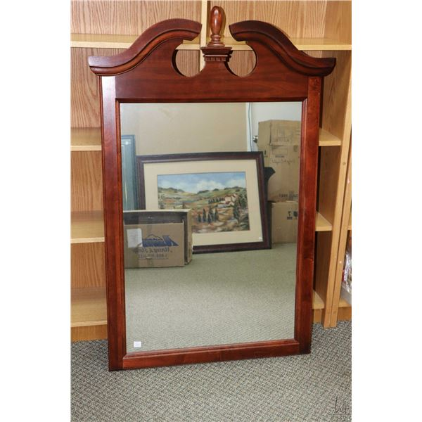 """Wooden framed Chippendale style mirror 50"""" X 33"""", overall dimensions. Not Available For Shipping. Lo"""