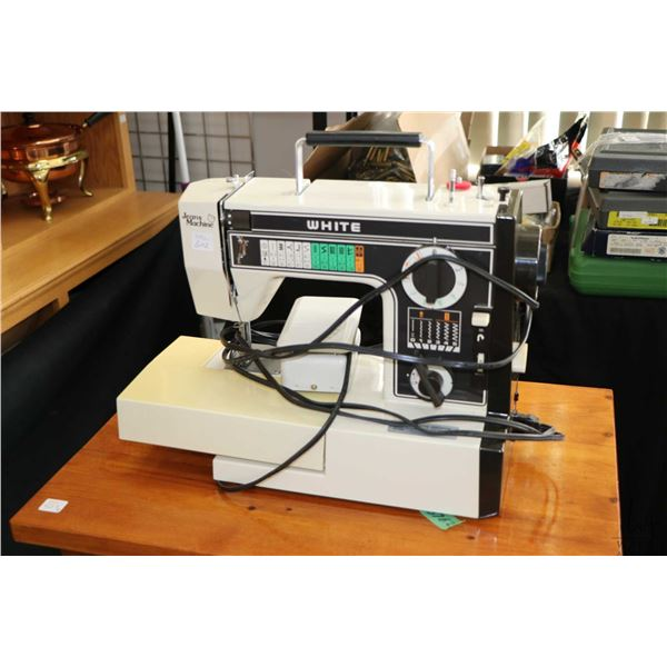 White brand model Jeans Machine portable electric sewing machine, working at time of cataloguing