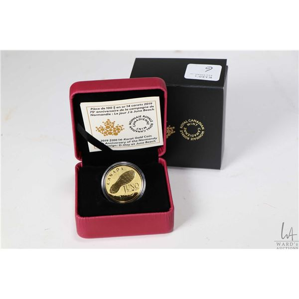 """Royal Canadian Mint boxed 2019 """" 75th Anniversary of the Normandy Campaign: D-Day at Juno Beach"""" $10"""