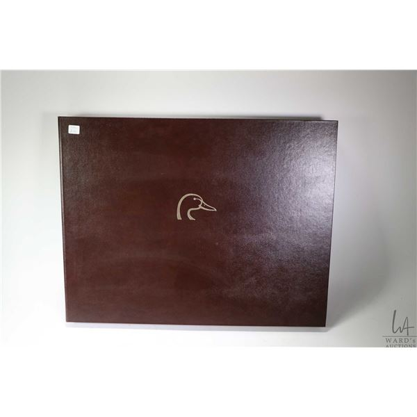 Waterfowl of North American-Ducks Unlimited 50th Anniversary leather book containing 44 limited edit