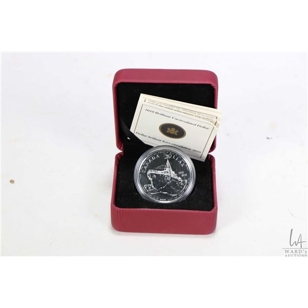 Royal Canadian Mint 2010 non-circulated and boxed .925 sterling silver dollar to mark the 100th anni