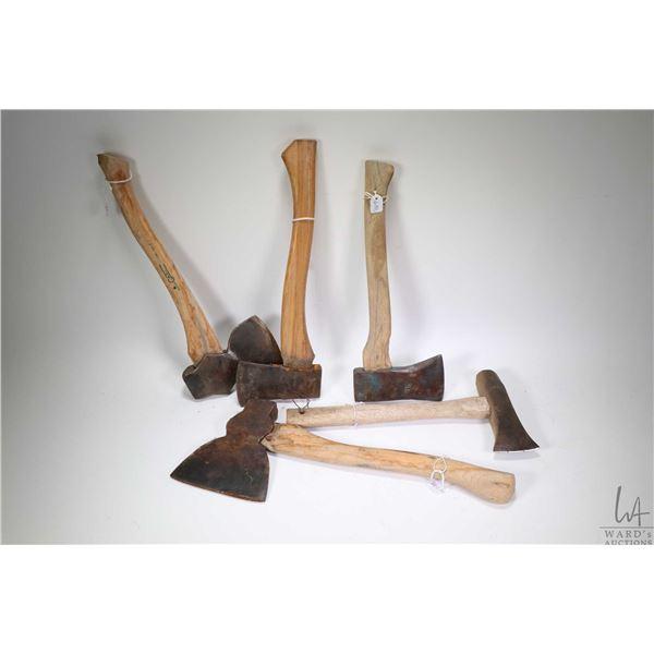 Five assorted vintage hatchets