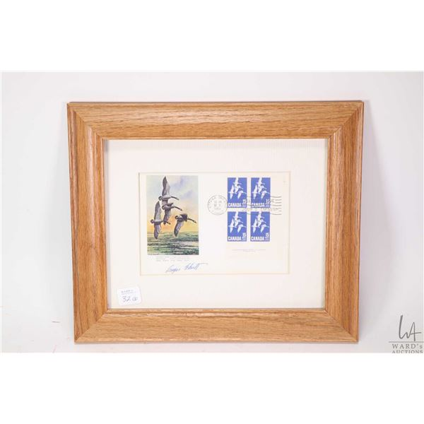 """Two framed limited edition """"Canadian Wildlife Habitat"""" print with their matching postage stamps incl"""