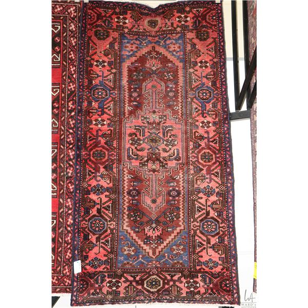 """100% Iranian Zanjan area carpet with center medallion and highlights of blues, brown, pink etc. 39"""""""