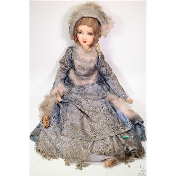 Antique French composition boudoir doll