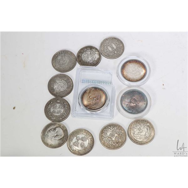 Collection of various militia issued tokens