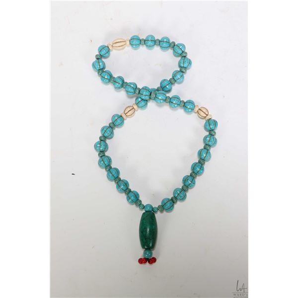 "Sino-Tibetan ceremonial ritual necklace, 24"" in length"