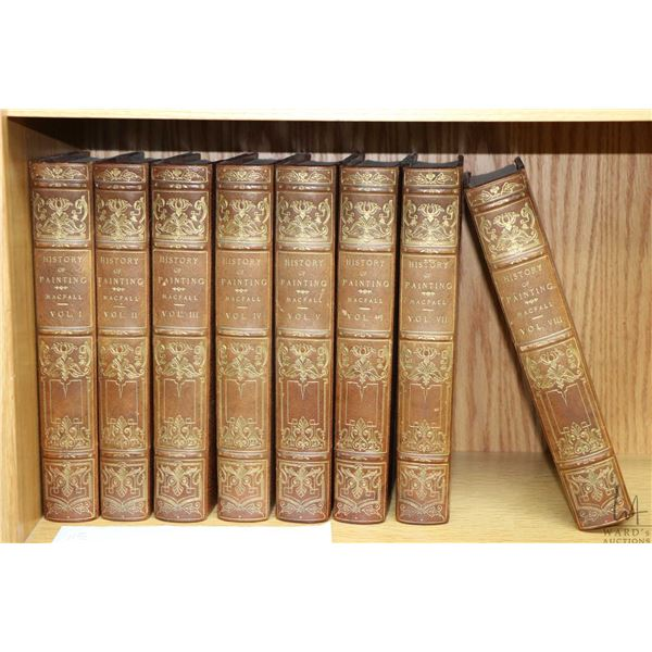 Eight antique limited edition volumes of A History of Painting by Haldane MacFall 287/500 including: