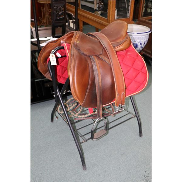 Exselle semi cut back pommel event saddle, made in England by Walsall Riding Saddle Company, include