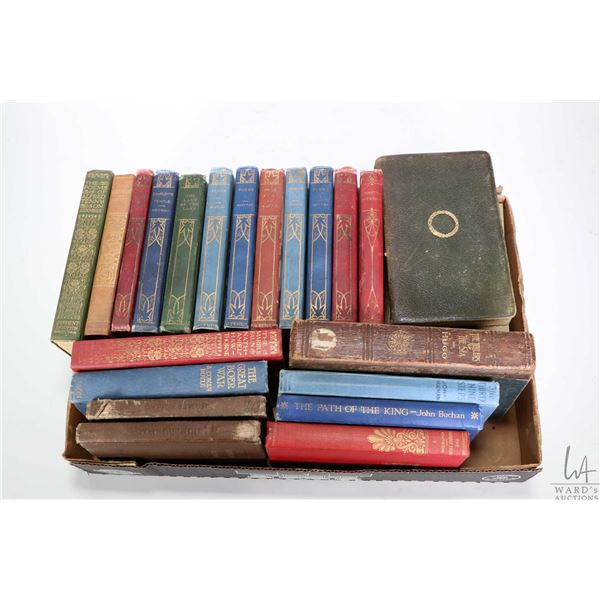 Selection of vintage books, mostly poetry including Sir Walter Scott, Whittier, Rowson, Alfred Tenny