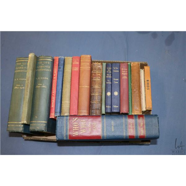 Selection of vintage hardcover books including The Life of Florence Nightingale Vol. I & II etc. Dr.