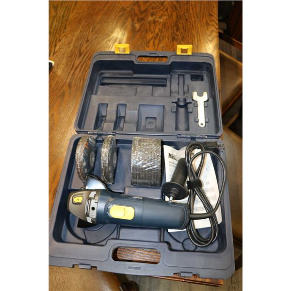 """Mastercraft 4 1/2"""" angle grinder with discs, new in box"""