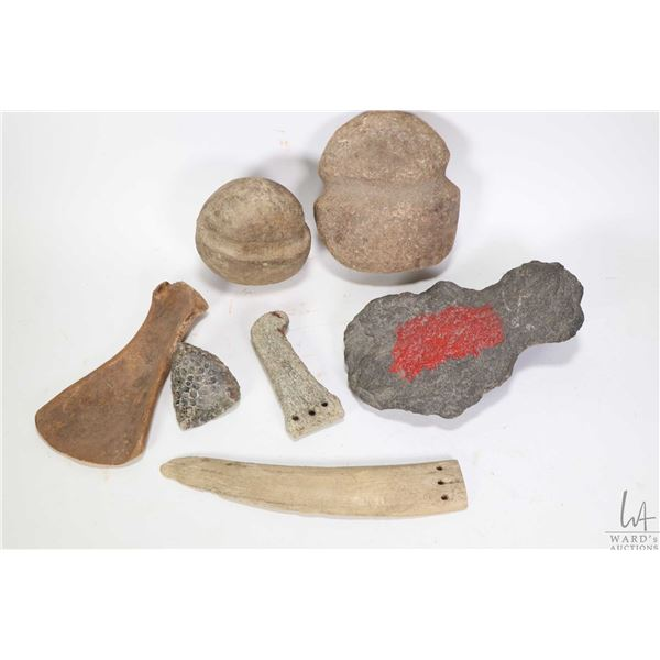 Selection of antique artefacts purportedly collected during and Arctic expedition in 1903-04 includi