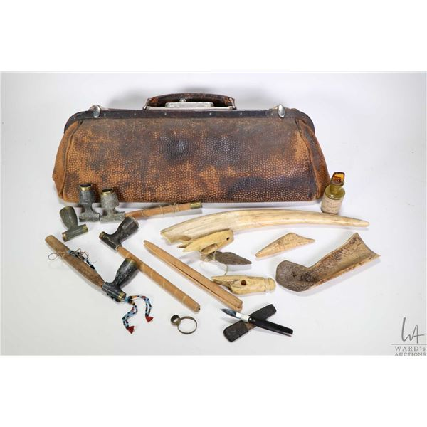 Selection of antique artefacts purportedly collected during and Arctic expedition in 1903-1904 inclu