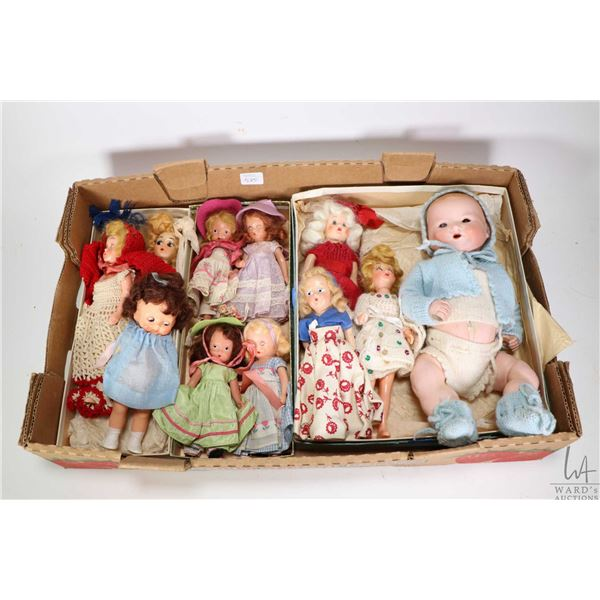 Selection of vintage and antique dolls including A.M. 351/2 baby doll on five piece composition body