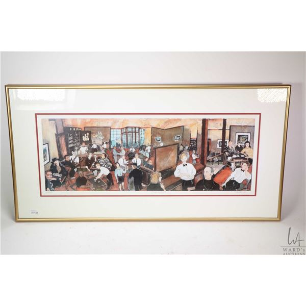 """Framed limited edition print """"Select Cafe"""" pencil signed by artist Toti, 130/250. Not Available For"""