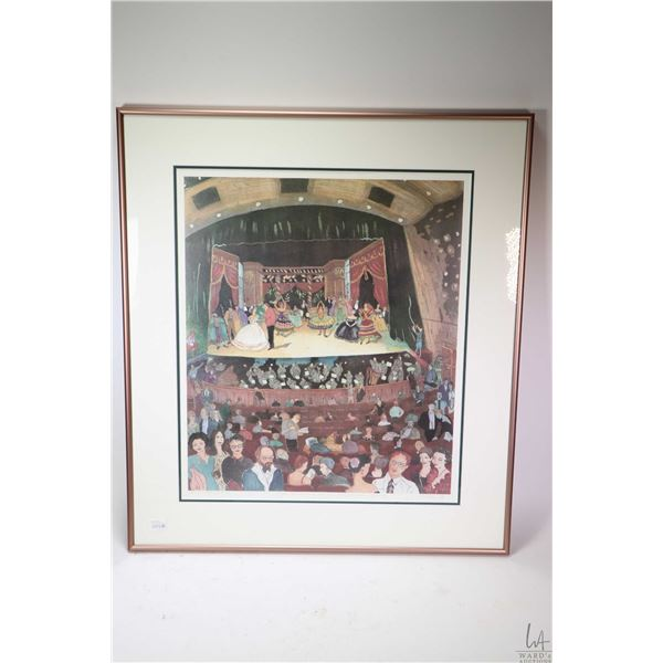 """Framed limited edition artist proof titled """"Dress Rehearsal at the Edmonton Opera"""" and pencil signed"""