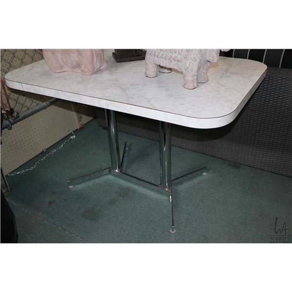 """Retro arborite dining table on chrome supports 47"""" X 30"""""""