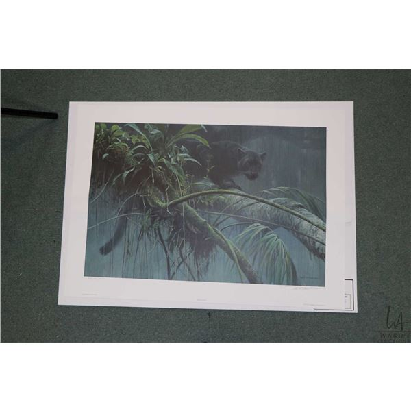 """Unframed """"Shadow in the Rain Forest"""" 367/2500 pencil signed by artist Robert Bateman. Not Available"""