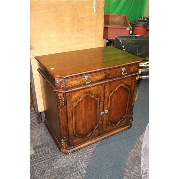 Small server sized sideboard with two doors and two drawers made by Uttermost