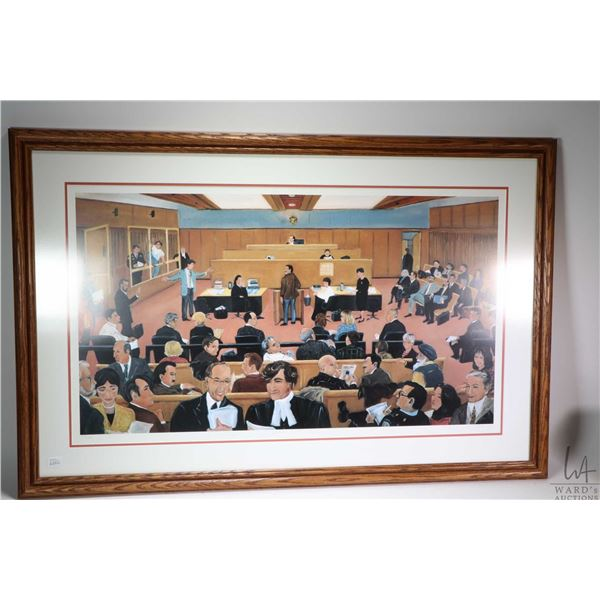"""Framed limited edition print """"Docket Court"""" pencil signed by artist Toti 11/125. Not Available For S"""