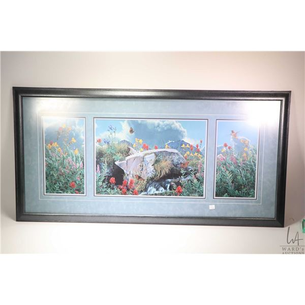 """Triple framed print titled """"Summer's Song"""" and signed in gold ink by artist Rod Fredrick. Not Availa"""