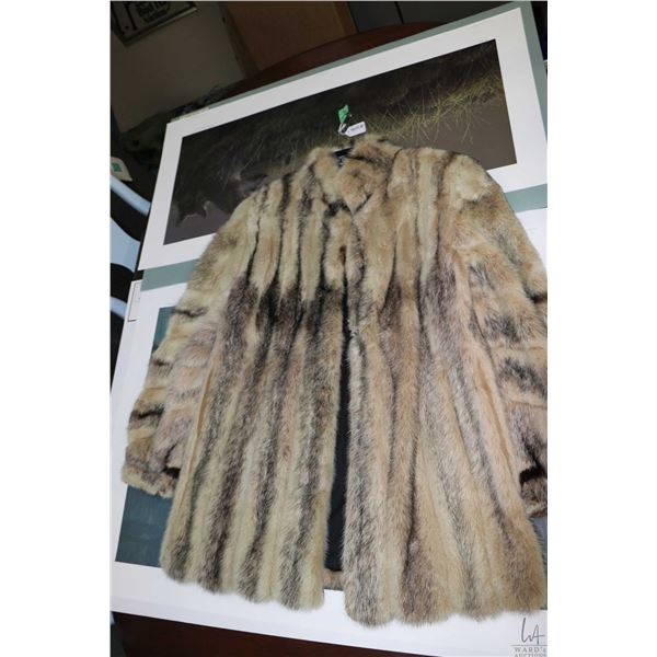 Short fur jacket, size unknown, appears to be in good condition
