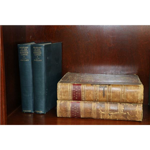 Selection of vintage hard cover books including eight volumes O. Henry: Roads of Destiny, Whirli-Gig