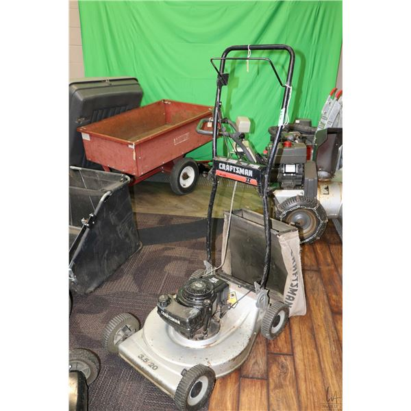 Craftsman II 32 , 12 HP snow blower and 3.5 HP 20  rear bag mower, working at time of cataloguing