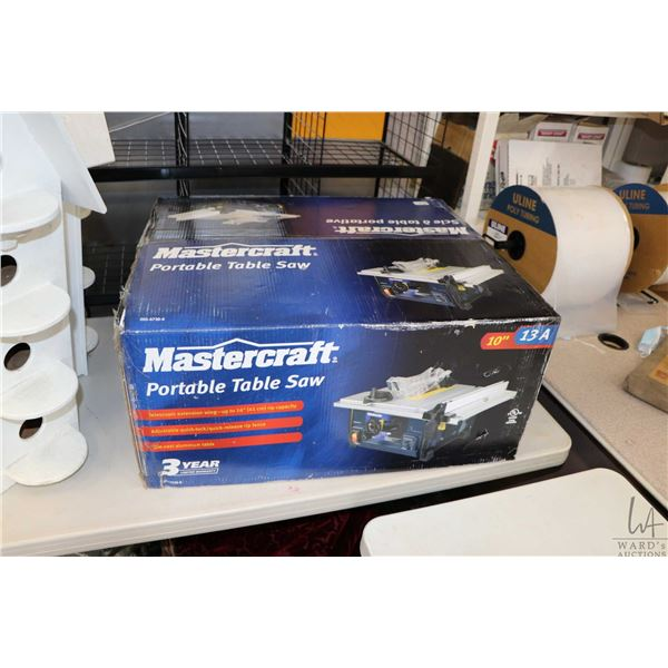 Mastercraft 10 , 13 amp. portable table saw No. 055-6739-8, new in box